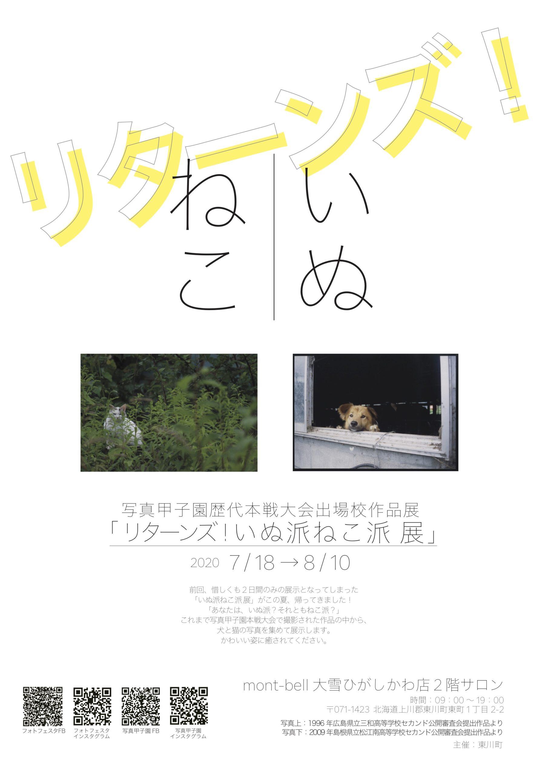 写真甲子園歴代本戦大会出場校作品展「リターンズ!いぬ派ねこ派 展」